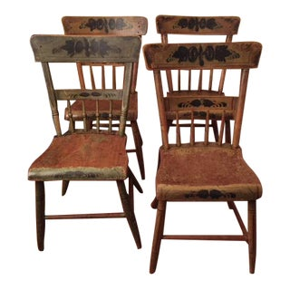 Original Country Wood Chairs - Set of 4