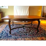 Image of Vintage Dining Table with Satin Finish