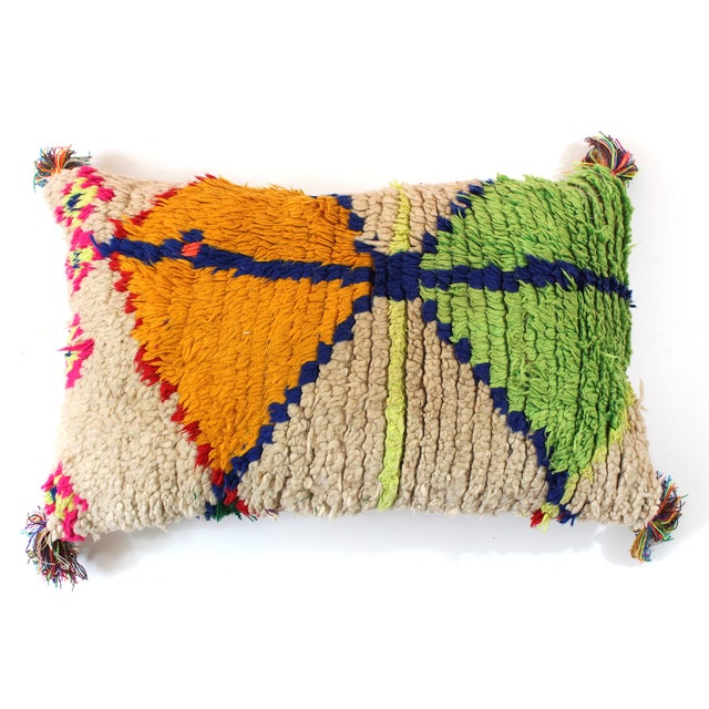 Moroccan Azilal Rug Pillow Cover - Image 2 of 3
