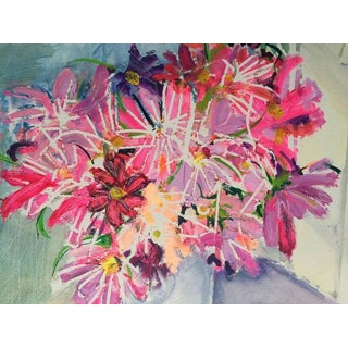 Flowers at Napeague Painting by Ruth Rogers-Altmann