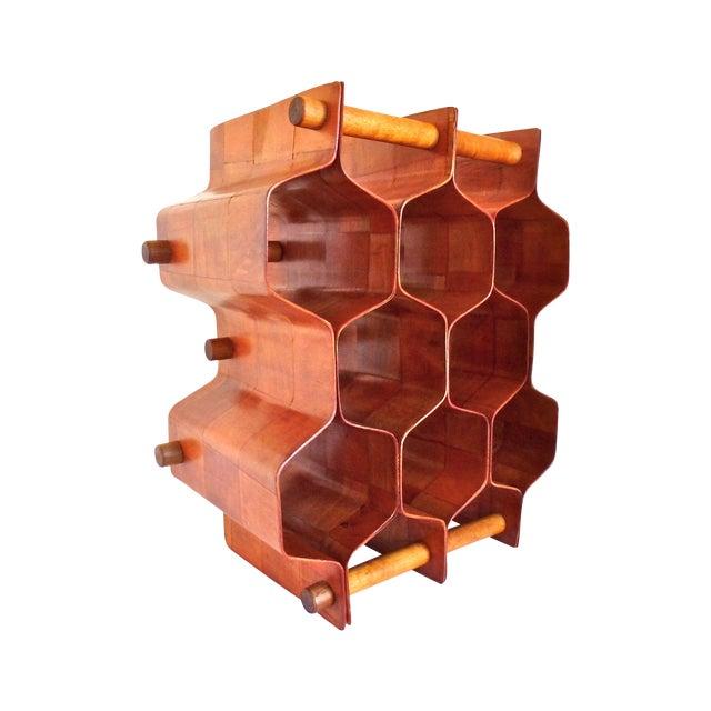 Torsten Johansson Bentwood Honeycomb Wine Rack - Image 1 of 8