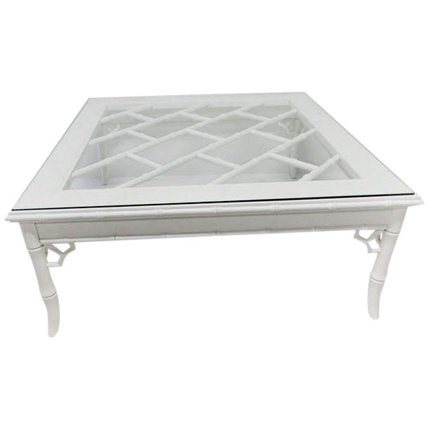 Baker Chinese Chippendale Cocktail Table - Image 1 of 5