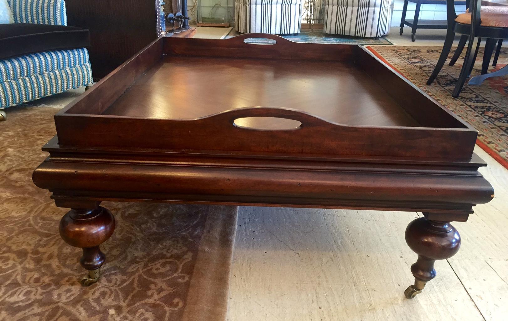 Large Butleru0027s Tray Mahogany Coffee Table   Image 2 ...