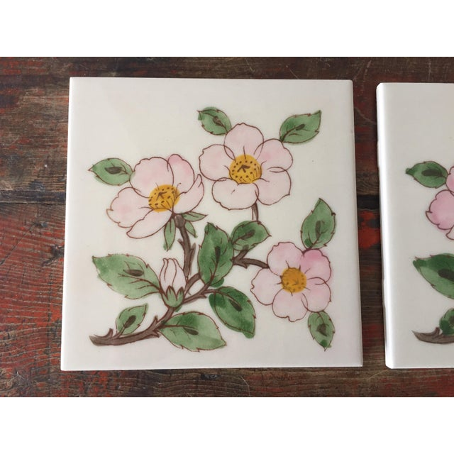 Franciscan Desert Rose Trivets or Tiles - a Pair - Image 4 of 7