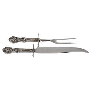 Sterling Handle Carving Set - 2 Pieces