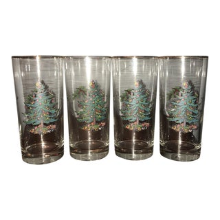 Spode Vintage Christmas Glasses - Set of 4