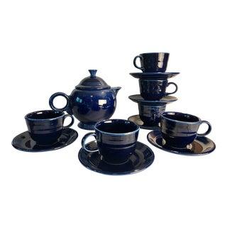 1992 Fiesta Navy Tea Set - 14 Pieces