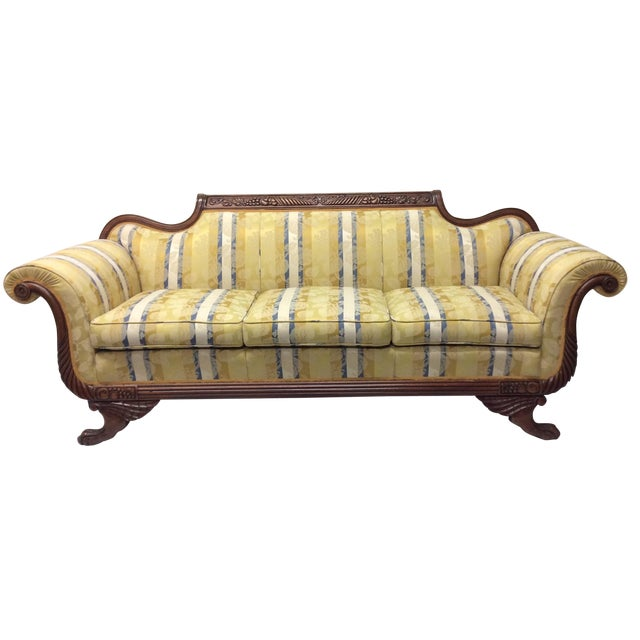 Duncan Phyfe Style Empire Sofa Chairish