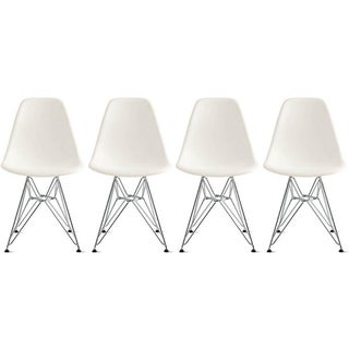 Modern Eames-Style Dining Chairs - Set of 4