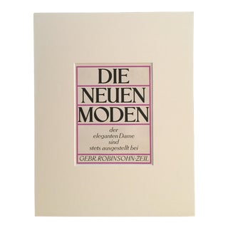 Vintage German 1940's Typographic Print