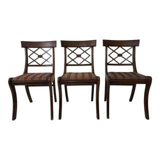 Tell City Mahogany Dining Chairs - Set of 3