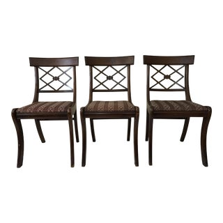 Tell City Mahogany Dining Chairs - Set of 3