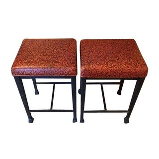 Contemporary Steel Stools - A Pair