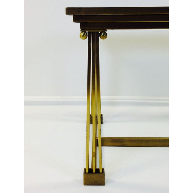 Image of Mastercraft Brass Desk With Glass Top