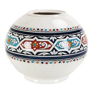 Moroccan Hand Painted Ceramic Globe Vase