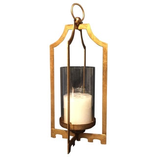 Gold Iron Candle Holder