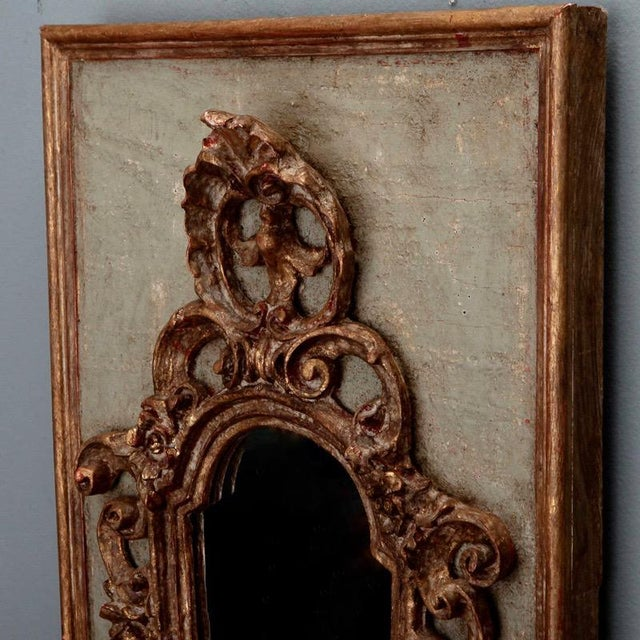 Pair 19th Century Italian Sconces With Carved Mirror and Gesso Frames - Image 9 of 10
