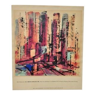 Xanti Schawinsky Vintage Silkscreen by Masta Displays, Inc. c.1963