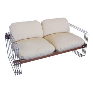 Heinz Meier Chrome Loveseat for Landes