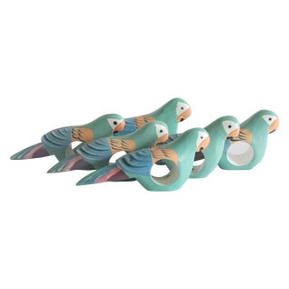 Tropical Parrot Napkin Rings, Set of 6