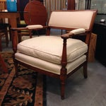 Image of Armchair With Off White Cushion
