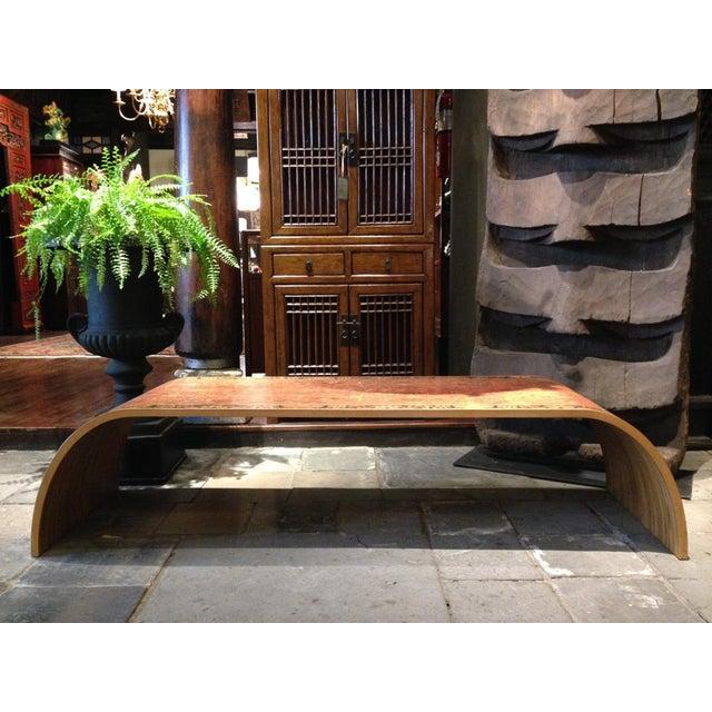 Image of Lamou Persian Rug Printed Wood Coffee Table