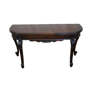 Antique Walnut Console Game Table
