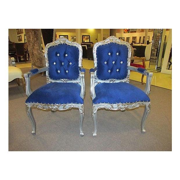 Mid-Century Velvet Armchairs - A Pair - Image 2 of 7