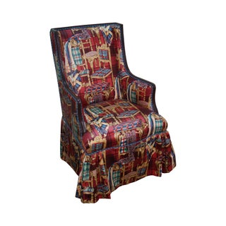 Vintage Mahogany Wingback Chair