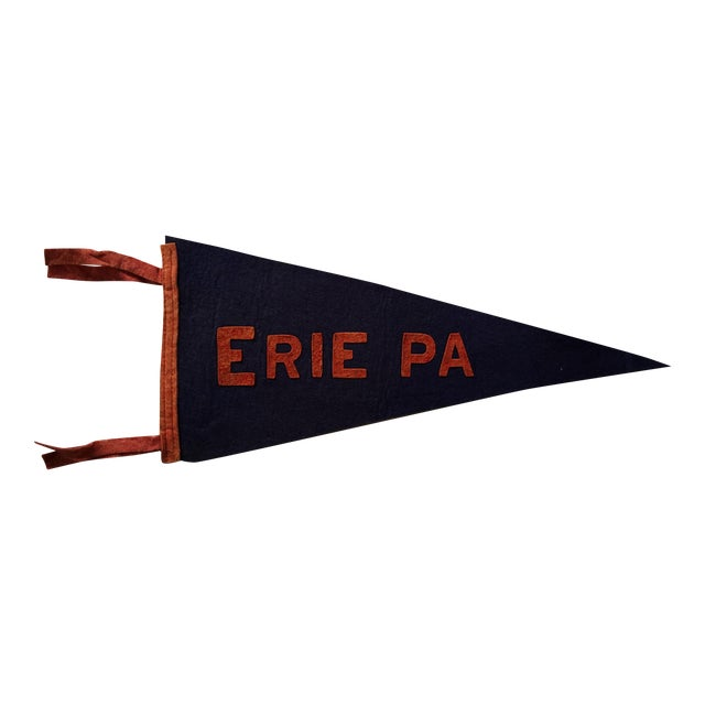 Erie, PA Vintage Pennant Flag - Image 1 of 3