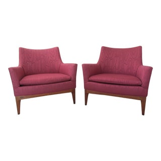 Vintage Paul McCobb Style Lounge Chairs - A Pair