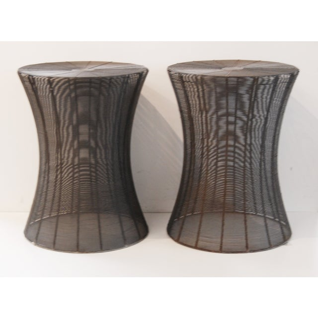 Aged Wire Outdoor Side Tables - A Pair - Image 3 of 5