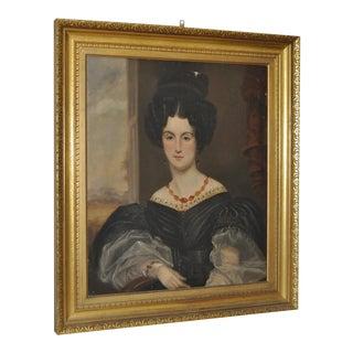 Antique Oil Portrait in Gilded Frame