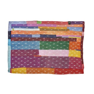 Indian Reversible Hand-Stitched Kantha Throw Blanket