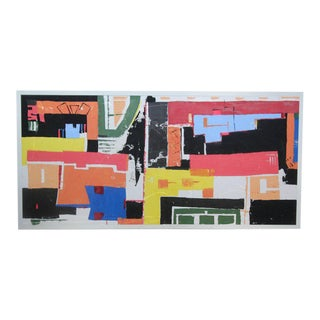 Monumental 8ft Modern Abstract Acrylic Painting on Canvas