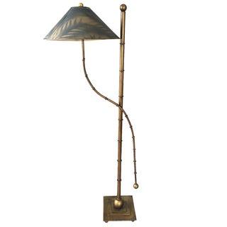 Mid-Century Faux-Bamboo Floor Lamp