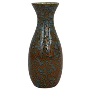 Turquoise & Brown Textured Vase