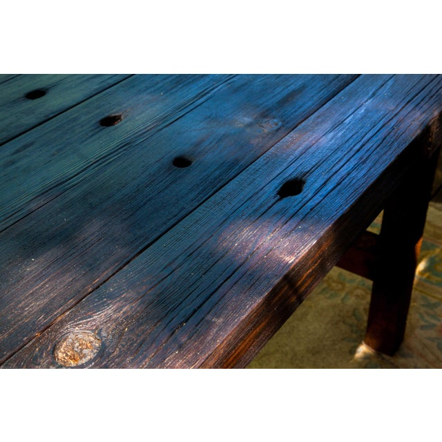 Wabi-Sabi Yakisugi Wood Dining Island Table Console - Image 6 of 11