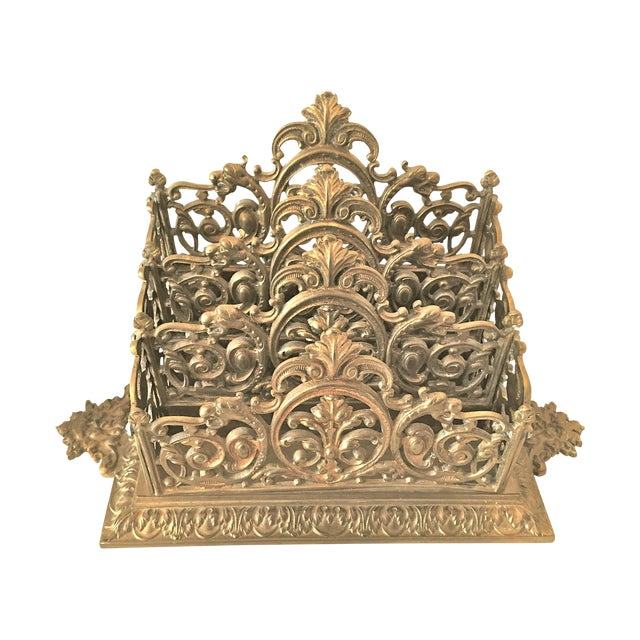 Victorian Brass Letter Holder - Image 1 of 7