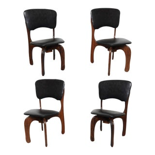 1970s Rosewood Chairs by Don Shoemaker, Mexico