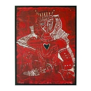 Santos Cortes Red Queen of Hearts Print