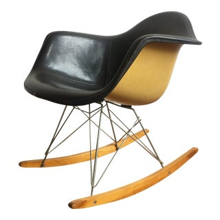 Vintage Herman Miller Black Eames Rocking Chair