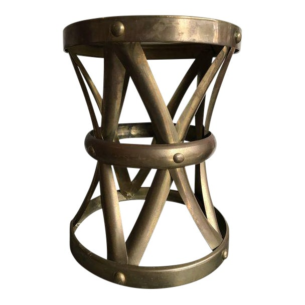 Vintage Brass Stool - Image 1 of 6