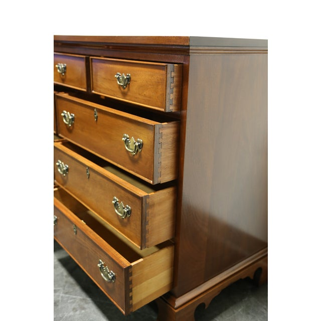 Vintage CRAFTIQUE Solid Mahogany Chippendale Nine Drawer Dresser - Image 7 of 11