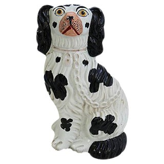 Antique Staffordshire King Charles Dog