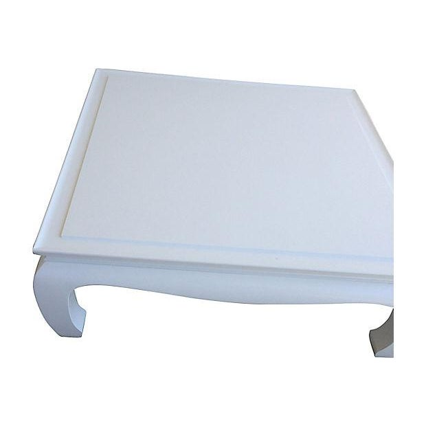 White Lacquered Ming Coffee Table - Image 4 of 5