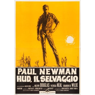 """Paul Newman """"Hud"""" Italian Film Poster"""