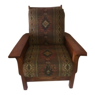 Stickley Style Mission Oak Reclining Morris Chair