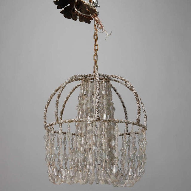 Circa 1900 Unusual All Beaded French Fixture - Image 3 of 5