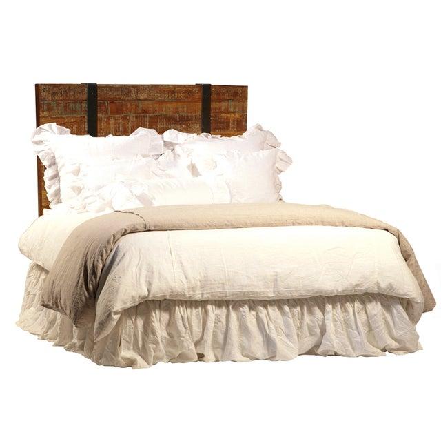 reclaimed wood eastern king bed frame chairish. Black Bedroom Furniture Sets. Home Design Ideas